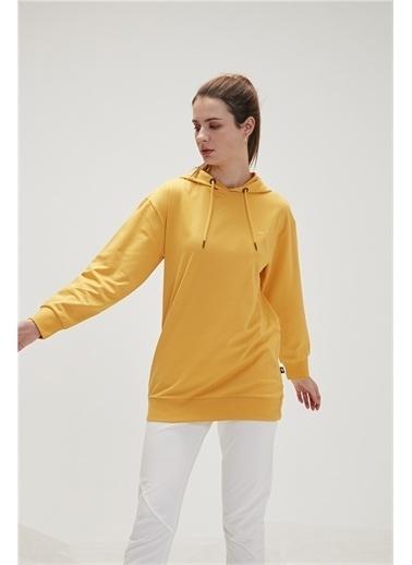 Bad Bear Bad Bear 20.04.12.009-C25 Mono Color Hoodıe Uzun Kol Mustard Kadın Kapüşonlu Sweatshirt Hardal